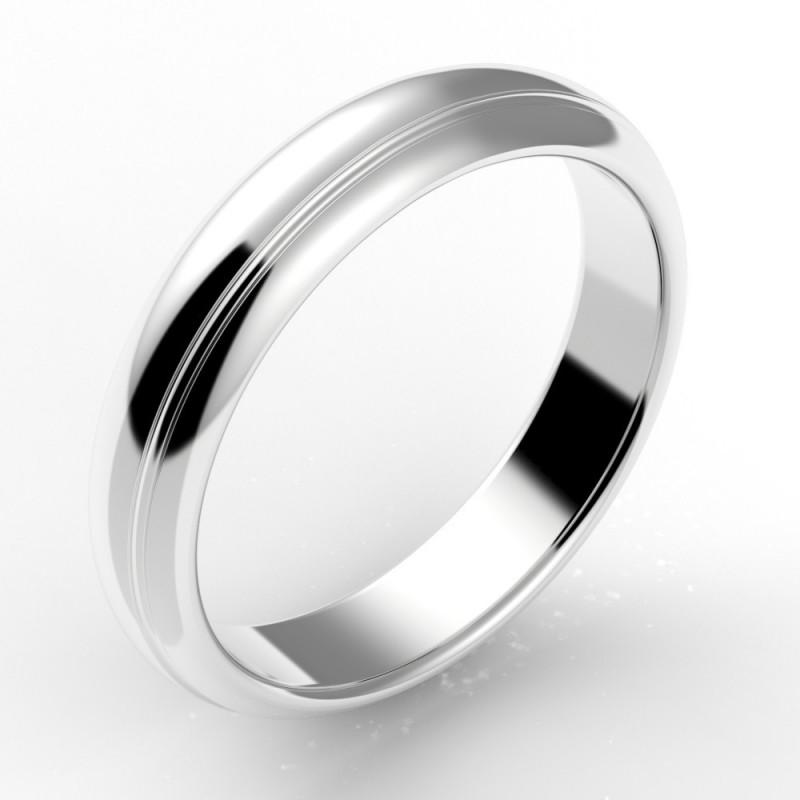 Alliance homme rainurée 4,5 mm - or 18 carats
