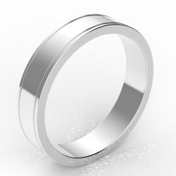 Alliance homme carré liseret 4,5 mm - or 18 carats