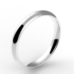 Alliance demi jonc confort 2 mm - or 18 carats