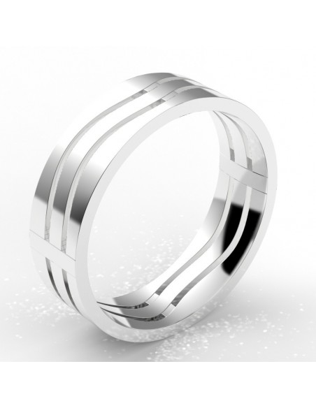 "Alliance homme or ""vague"" 6 mm - or 18 carats"