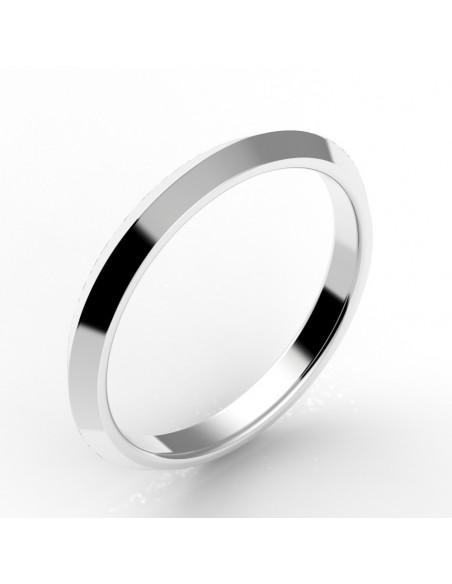 Alliance biseautée or 18 carats 2,5 mm