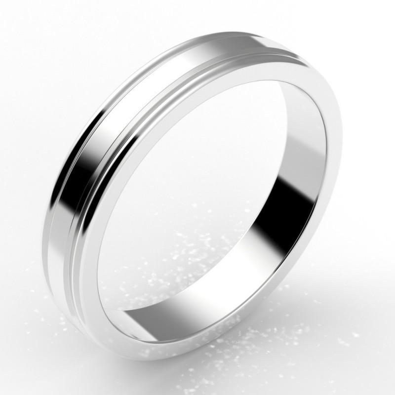 Alliance godron homme or 18 carats 4 mm