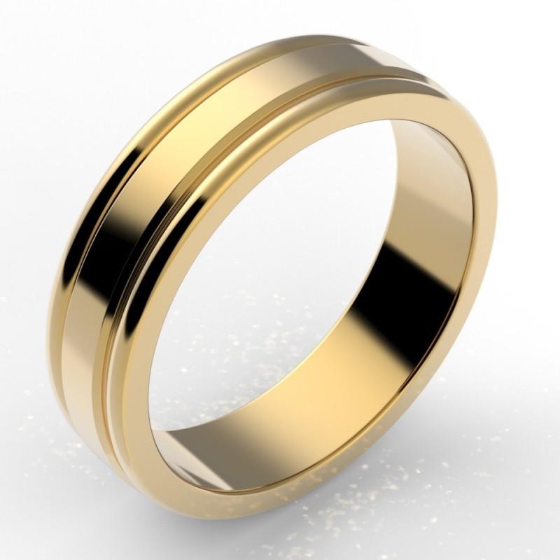 Alliance godron homme or 18 carats 5,5 mm