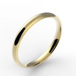 Alliance demi jonc confort 2,5 mm - or 18 carats