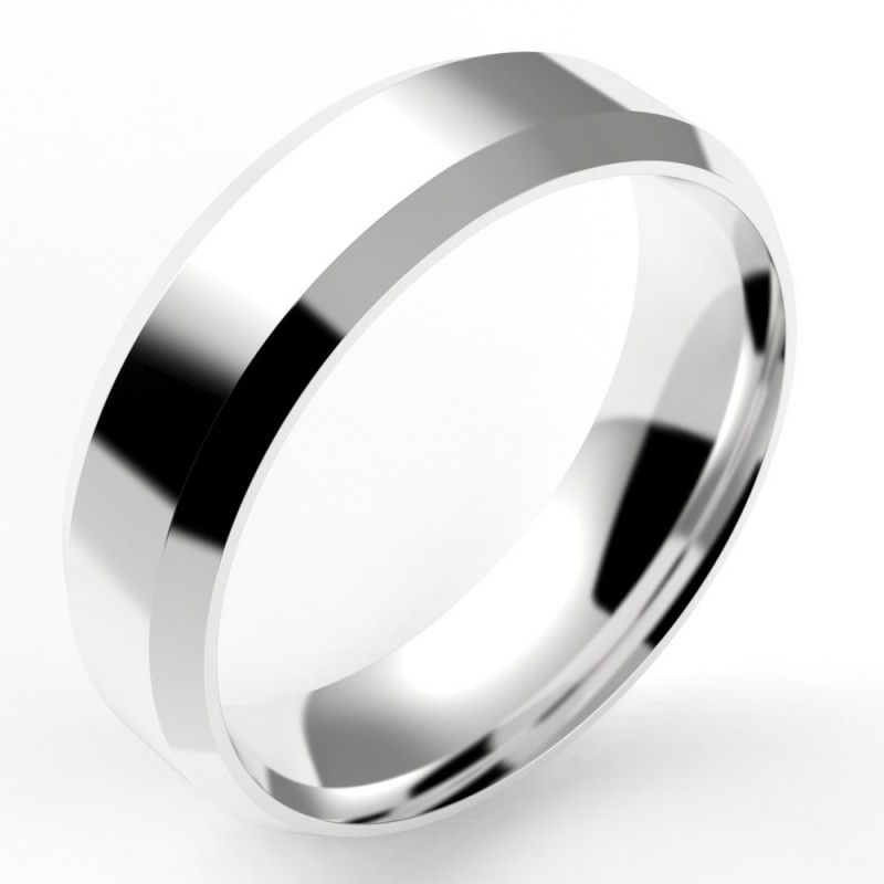Alliance homme chanfrein confort 6 mm - or 18 carats