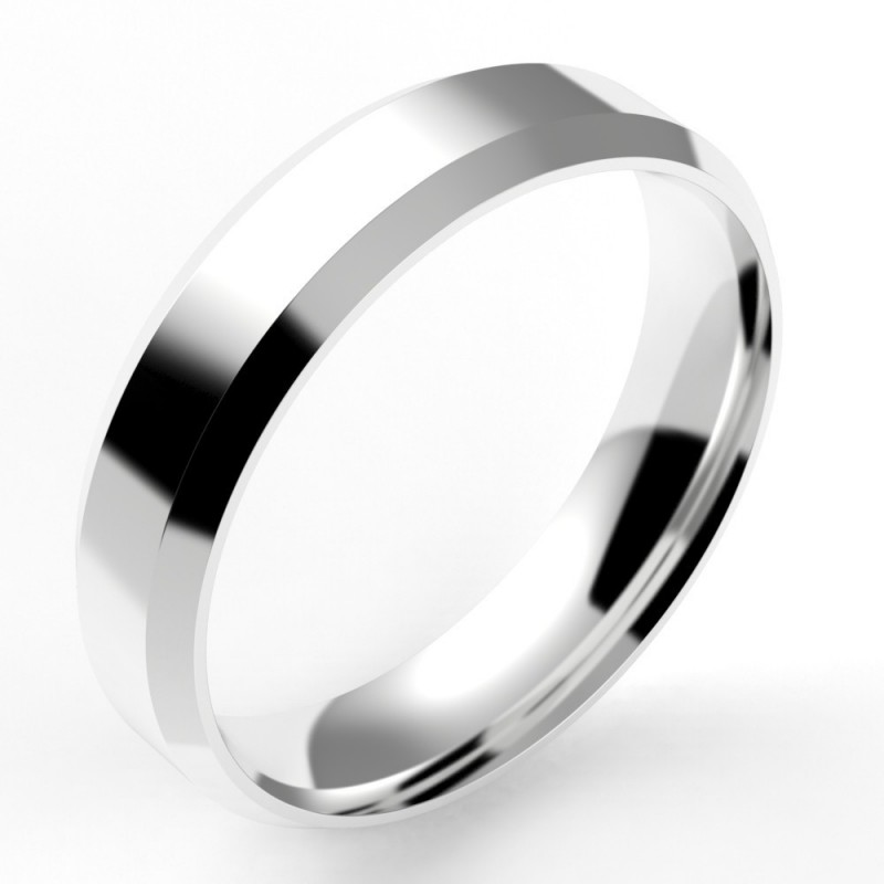 Alliance homme chanfrein confort 5 mm - or 18 carats