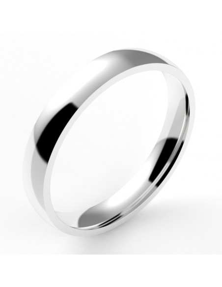 Alliance homme ruban  confort - or 18 carats - 3,5 mm
