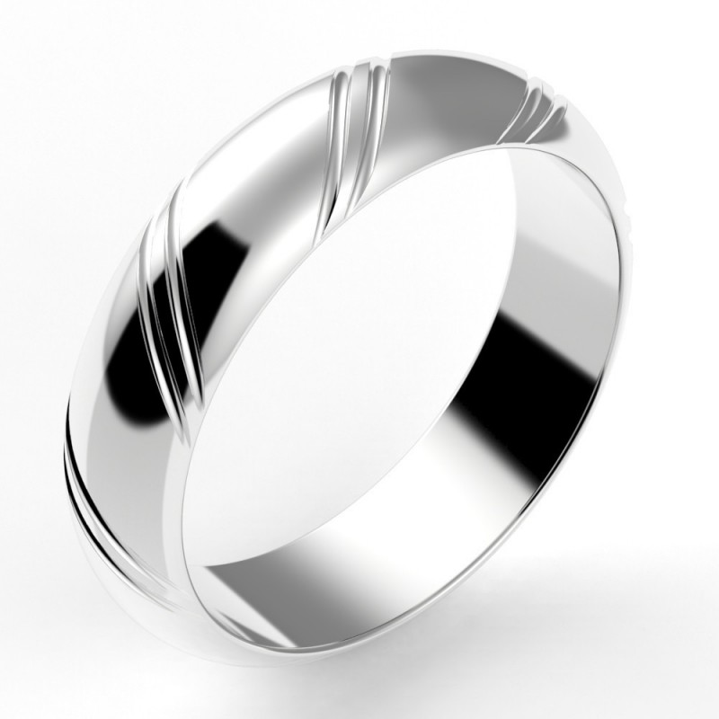 Alliance mariage homme jonc 2 liserets - 5,5 mm or 18 carats