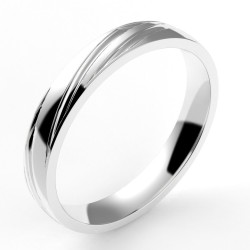 Alliance homme ruban spirale 3,5 mm - or 18 carats