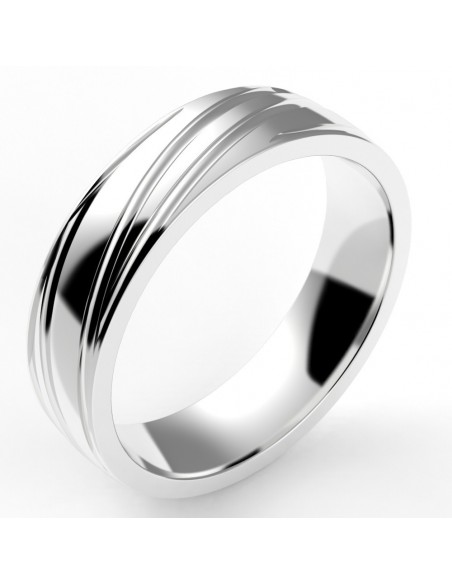 Alliance homme ruban spirale 5,5 mm - or 18 carats