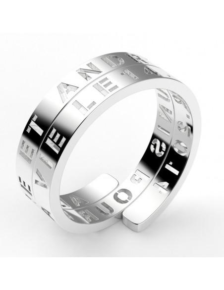 Alliance texte enroulé personnalisable 9 mm - or 18 carats