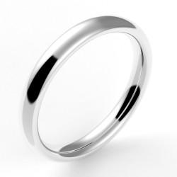 Alliance mariage bombée nombre d'or 3 mm - or 18 carats