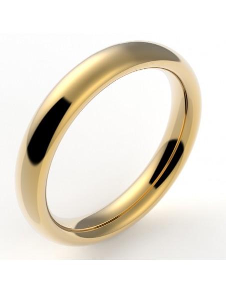 Alliance mariage homme bombée nombre d'or 4 mm - or 18 carats