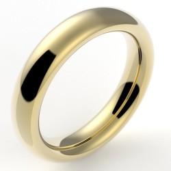 Alliance mariage homme bombée nombre d'or 5 mm - or 18 carats